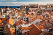 Croatia, Dubrovnik, Old Town Buildings With Orange Rooftops