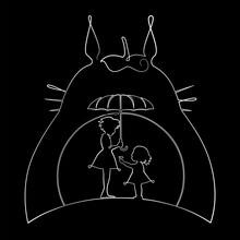 Line Art - Totoro