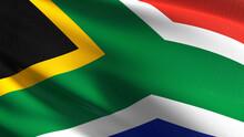 Full Frame Shot Of South African Flag