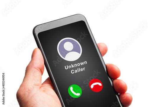 Obraz na plátně Unknown Caller on Phone