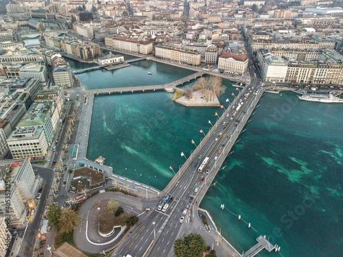 Obraz High Angle View Of City Buildings - fototapety do salonu