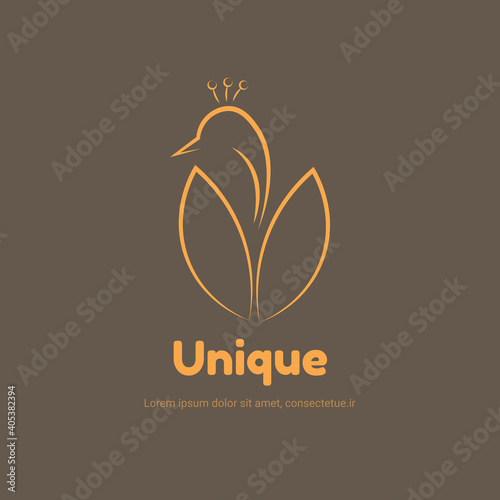 goose logo for company animal brand design vector