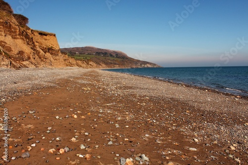 Fototapeta Scenic View Of Sea Against Clear Blue Sky