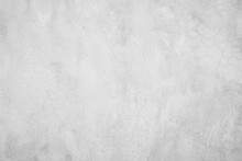 Close Up Retro Plain White Color Cement Wall Panoramic Background Texture For Show Or Advertise Or Promote Product And Content On Display And Web Design Element Concept