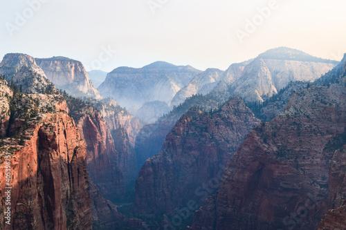 Zion National Park, feat. Smoke Fototapet