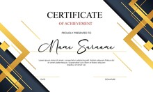 Abstract Business Certificate Template. Best Logo