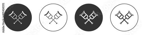 Fotografie, Tablou Black Crutch or crutches icon isolated on white background