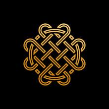 Gold Clover Irish Style Logo