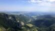 vue aérienne de la vallée de Chaudefour, puy-de-Sancy, Auvergne, France