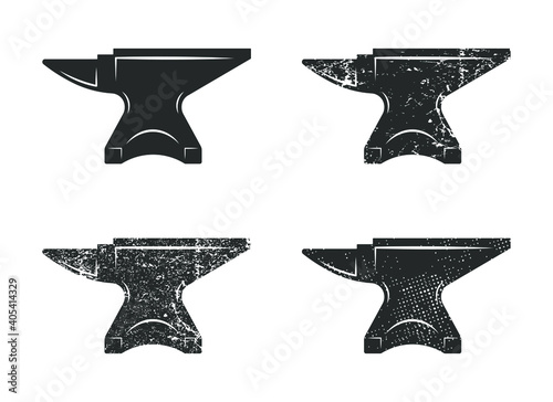 Fotografia Blacksmith anvil icon shape symbol