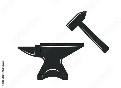 Tela Blacksmith anvil icon shape symbol