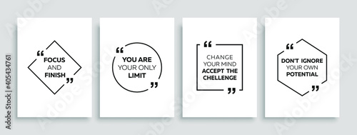 Fototapeta Inspirational quote for your opportunities. Speech bubbles with quote marks. Motivational quotes. Vector illustration. obraz