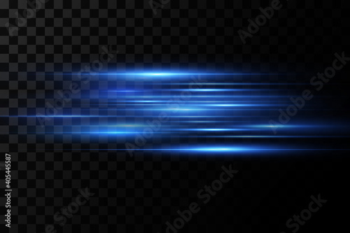 Fotografia, Obraz Vector illustration of a blue color
