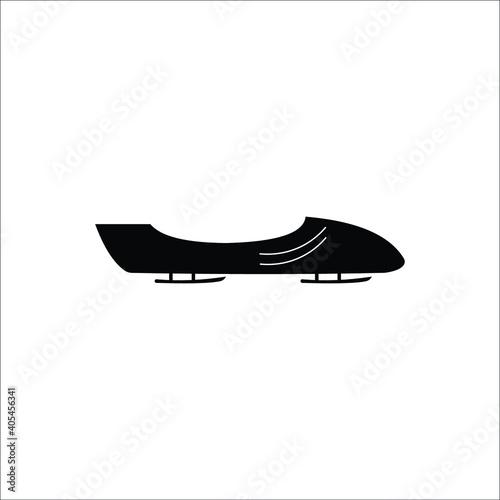 Billede på lærred Winter sports bobsleigh vector icons
