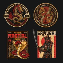 Mixed Martial Arts Fight Club Badges