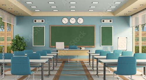 Obraz na plátně Empty Classroom At School