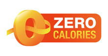 0 Kcal Badge For Packaging Of Zero Calories