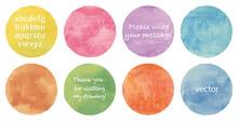 Vector Watercolor Circles Set