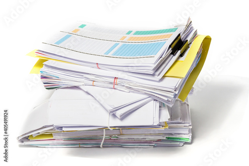 Obraz Close-up Of Papers Against White Background - fototapety do salonu
