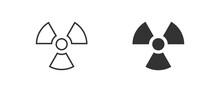 Radioactive Nuclear Set Icons On White Background. Flat Vector