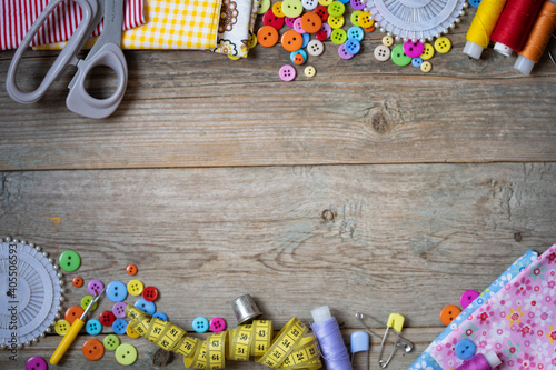 Fototapeta items for sewing