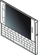 Cell Phone / Mobile Phone - Touchscreen Tablet Form Factor With Slide Out Qwerty Keyboard.