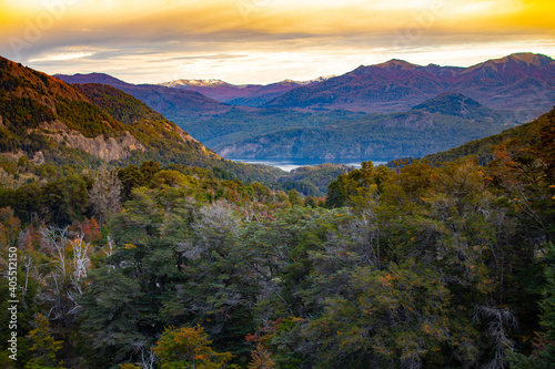 Fototapety, obrazy: An autumm landscape at Patagonia. Somewhere on the