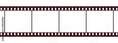 Canvas Print バナー、アイキャッチ画像に使えるセピアカラーの映画フィルム