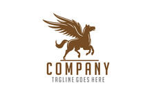 Silhouette Pegasus Mythical Creature Horse With Wings Usable For Business, Community, Industrial, Foundation, Security, Tech, Services Company.