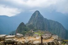 Beautiful Shot Of An Old City Machu Picchu, Peru