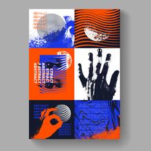 Postmodern Poster Artwork Vector Design. Modern Abstract Composition. Geometric Shapes Illustration.