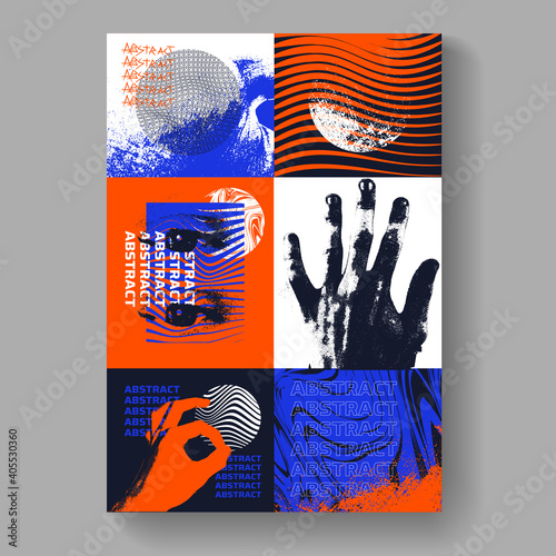 Postmodern poster artwork vector design Wallpaper Mural