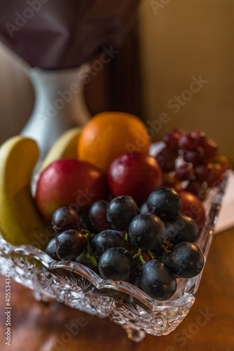 High Angle View Of Fruit In Bowl On Table