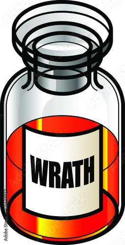 A reagent bottle of Wrath Wallpaper Mural