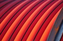 Conduit Plastic Orange Pipe Spool