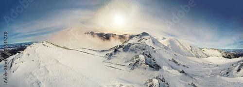 Fototapeta Tatry Czerwone Wierchy zimą obraz