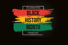 Black History Month Celebrate. Vector Illustration Design Graphic Black History Month