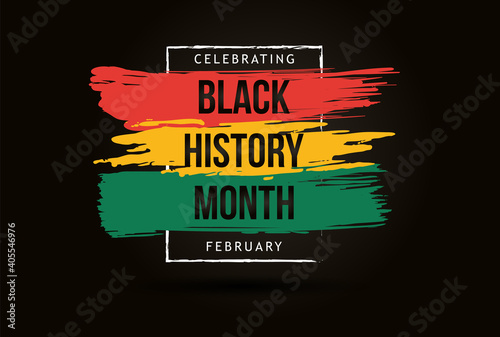 Obraz Black history month celebrate. vector illustration design graphic Black history month - fototapety do salonu