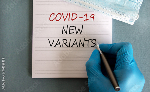 Fotografija Covid-19 new variants symbol