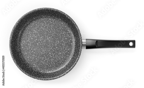 Vászonkép Gray granite coated frying pan