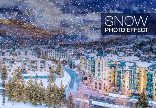 Obraz Snow Landscape Photo Effect - fototapety do salonu