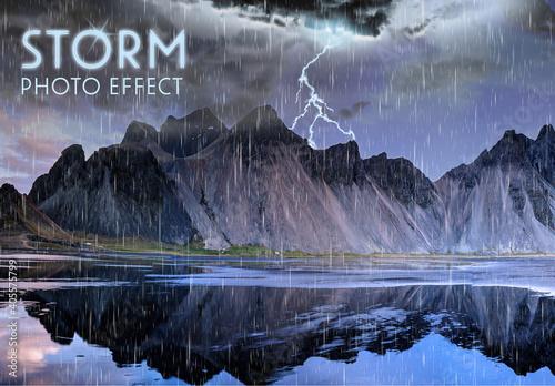 Obraz Storm Photo Effect Layout - fototapety do salonu