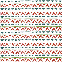 Aztec Vector Pattern. Green, Blue, Orange Geometric Ornament.