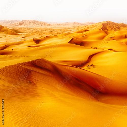 Sand Dunes In Desert Against Sky Fototapet