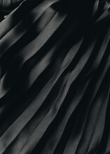 Black Pleated Fabric Texture Background