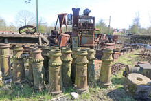 Stack Of Vintage Chimney Pots