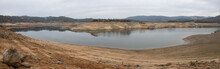 Panorama Of The River Bend In The Middle Fork Of The American River At The Lower End Of Folsom Reservoir In California