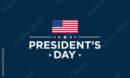 Photo President's Day Background Design. Vector Illustration.