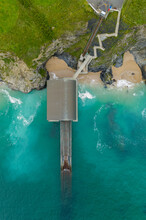 Aerial View Of Padstow Life Boat Station, Mother Ivey Bay, Trevose, Cornwall, United Kingdom