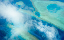 Panoramic Aerial View Of Vaavu Atoll, Maldives, Laccadive Sea.